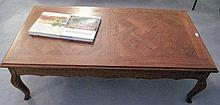 Quality French oak parquetry coffee table