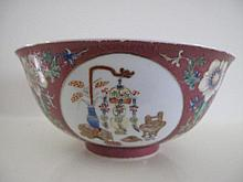 Chinese Famille Rose porcelain bowl from Official