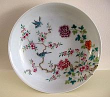Chinese Famille Rose porcelain dish finely painted