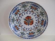 Chinese Famille Rose porcelain plate painted with