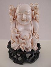 Antique carved Chinese ivory Buddha with