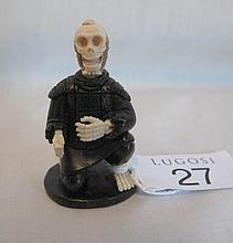 Japanese ivory and ebony Netsuke of a skeleton