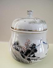Chinese early Republic porcelain wine warming pot