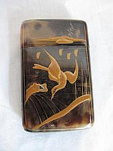 Tortoiseshell Japanese cigar/cigarette case circa