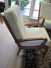 Retro timber and cream five piece lounge suite