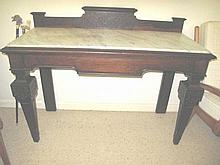 Antique Australian rosewood Gothic revival table
