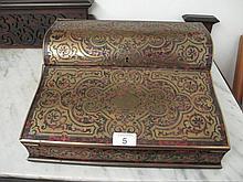 Fine 19thC French red tortoiseshell cut brass