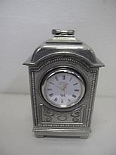 Selangor pewter clock 15cms Ht