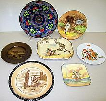 Four Royal Doulton plates Gaffers with Gleaners, T