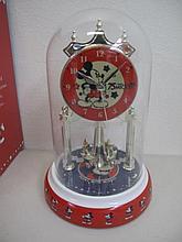 Disney 75th Anniversary clock boxed 25cms Ht