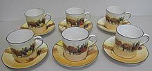 Royal Doulton Coaching Scenes coffee cups and sauc