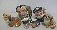 Four Royal Doulton toby jugs miniature and tiny Ol