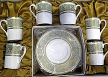 Royal Doulton porcelain coffee service English Ren