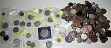 Large quantity English silver and copper coins inc