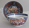 Late 18thC Chinoiserie tea bowl and saucer 7cm