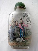 Republic Chinese inside painted snuff bottle with