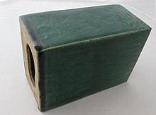 19thC Chinese green glazed head rest 18cm x 9cm