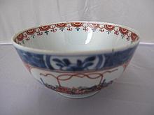 18thC Chinese clobbered porcelain tea bowl