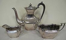 Antique sterling silver three piece tea service hallmarks Sheffield 1896 we