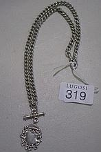 Go0d Sterling silver fob chain