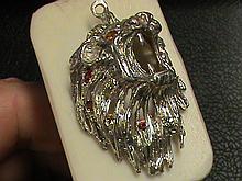Natural Royal Golden Mandarin Solid Sterling Silver Pendant