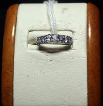 Beautiful Tanzanite Sterling Stilver Ring.