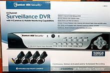 4 Channel Surveillance DVR With 4 Infrared Day/Night Cameras NIB