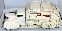 Marx Tin Lithograph Toy Garbage Truck