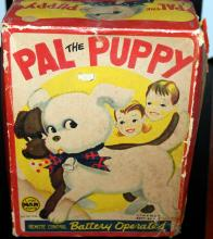 Line Mar Toys (Marx) Pal Puppy Battery Operated Toy Dog In Original Box
