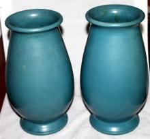 2 North State Sanford North Carolina Pottery Vases