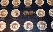 Franklin Mint 56 One Ounce Sterling Silver Medallion Signors Of The Declaration Set