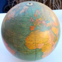 Cram's Unrivaled Terrestrial Globe 12 Inch Made Of Glass Lamp Globe