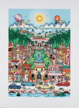 Charles Fazzino Perfectly Palm Beach 3D serigraph