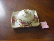 Royal Albert Round Butter Dish