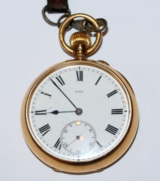 AN 18CT GOLD POCKET WATCH for the Army and Navy