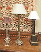 A VICTORIAN GILT METAL GOTHIC REVIVAL LAMP with