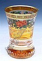 A LATE 19TH CENTURY BOHEMIAN GLASS BEAKER having