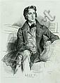 ACHILLE DEVERIA (1800-1857) 'Liszt', lithograph,