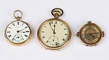 AN 18CT GOLD CASED POCKET WATCH by John Carter of