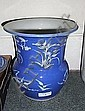 A CHINESE BLUE GROUND SMALL BALUSTER VASE with