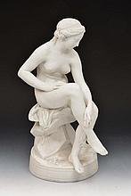 Parian ware model of 'Venus' after Falconet, 43cm
