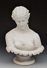 Parian Art Union of London model of 'Clytie', 35cm