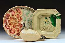 Japanese Satsuma oval dish flower designs 29cm, a model bir