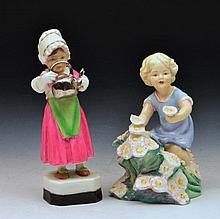 Royal Worcester model 'May' modelled by Freda Doughty and a