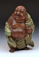 Japanese model of Hotei Bizen, 19th Century, 19cm