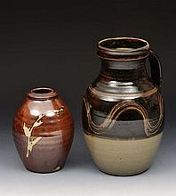 Ray Finch (British) A stoneware jug with simple glaze and