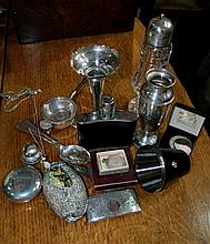 Small collection of miscellaneous including a silver card c