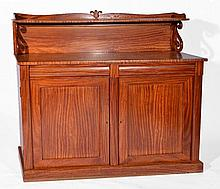 19th Century satinwood chiffonier having a raised back with