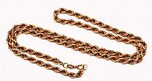 9ct gold necklace of rope-twist form, 7 grams