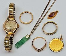 Small quantity of miscellaneous jewellery including an 18ct